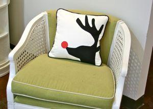 Felt Reindeer Pillow