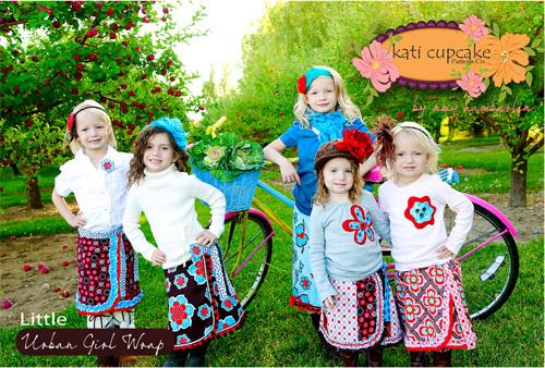 Katie Cupcake Little Urban Girl Wrap Skirt Pattern