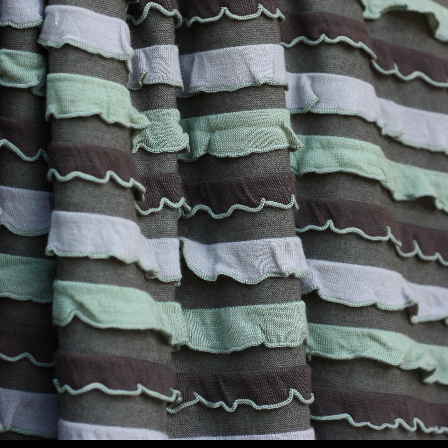 Sage_brown_ruffle_fabric_image_ruffled_fabric_image