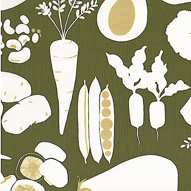 Farmers Market Green Olive by Alexander Henry Fabrics