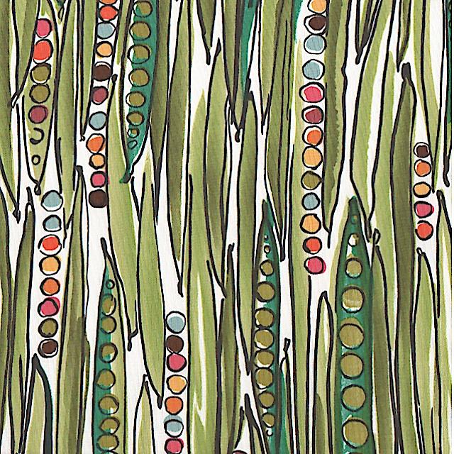 "Green Bean Natural ""Brite"" by Alexander Henry Fabrics"