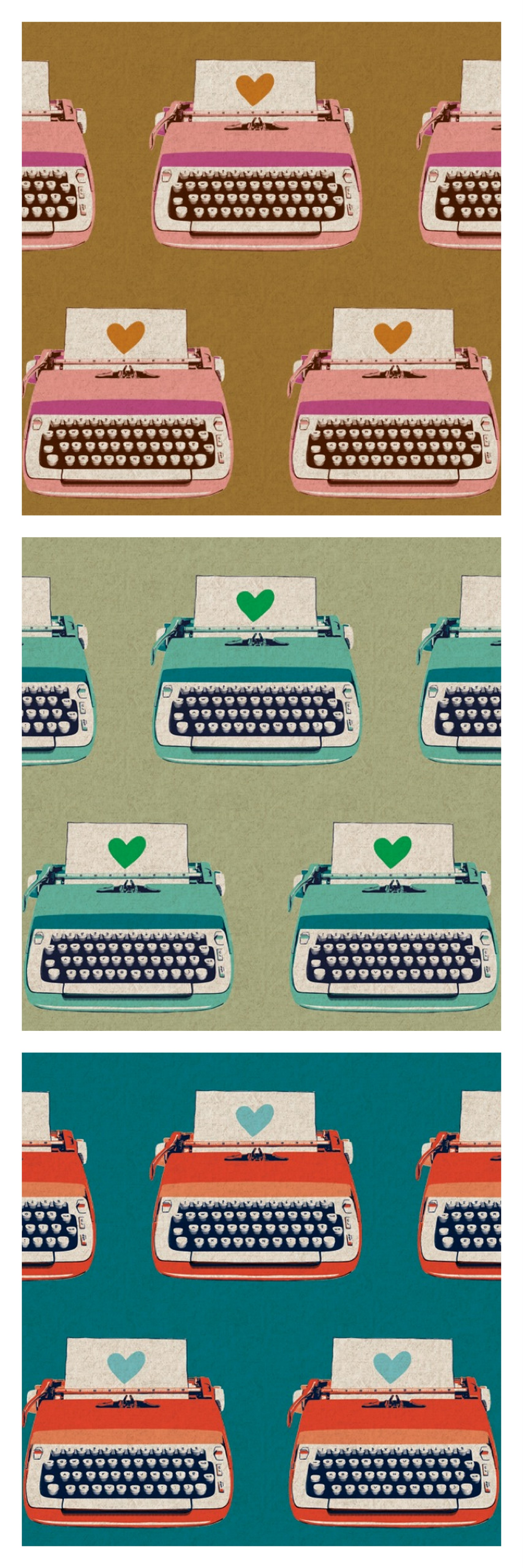 Typewriters by Melody Miller for Kokka Fabrics, available now at CityCraft