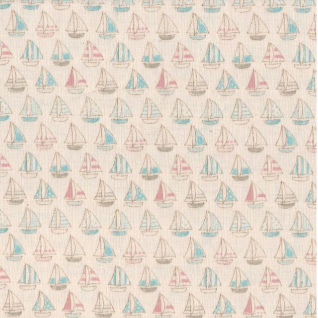 Kokka LIttle Sails Aqua Fabric at CityCraft