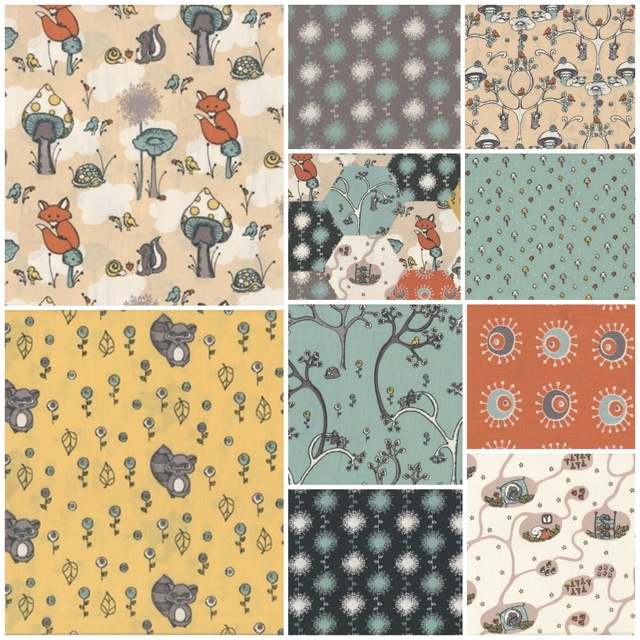 Scamper Fabric Collection | Birch Fabrics | 100% Organic