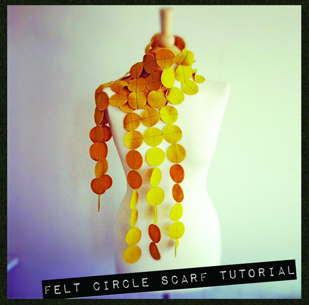Felt Circle Scarf Tutorial by CityCraft