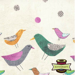 Bird Dot Paper - Collage by Such Designs