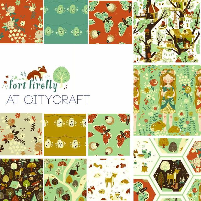 Fort Firefly Fabric, Birch Organic