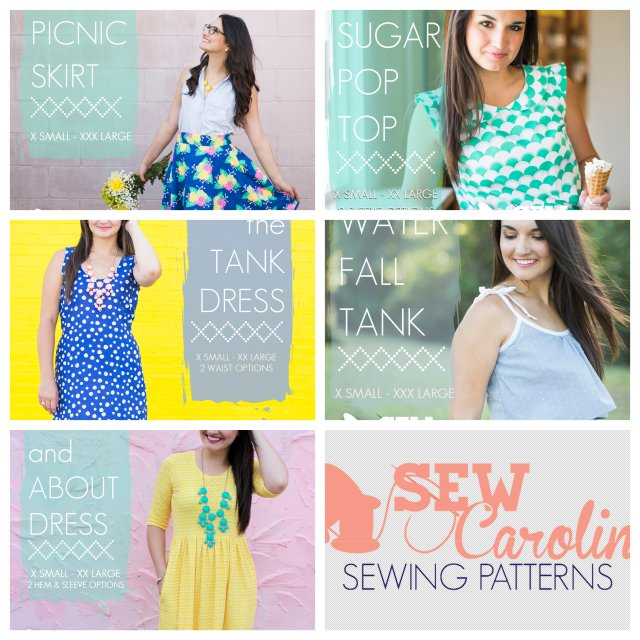 Sew Caroline Printed Patterns at CityCraft