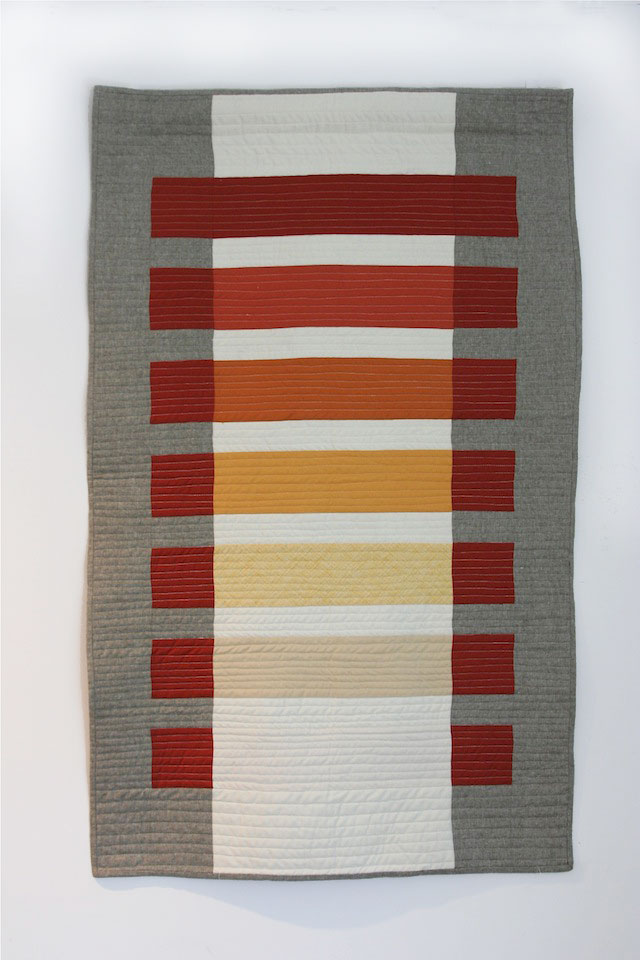 Modern Transparency Quilt by Callie Works-Leary. Inspired by the work of Josef Albers.