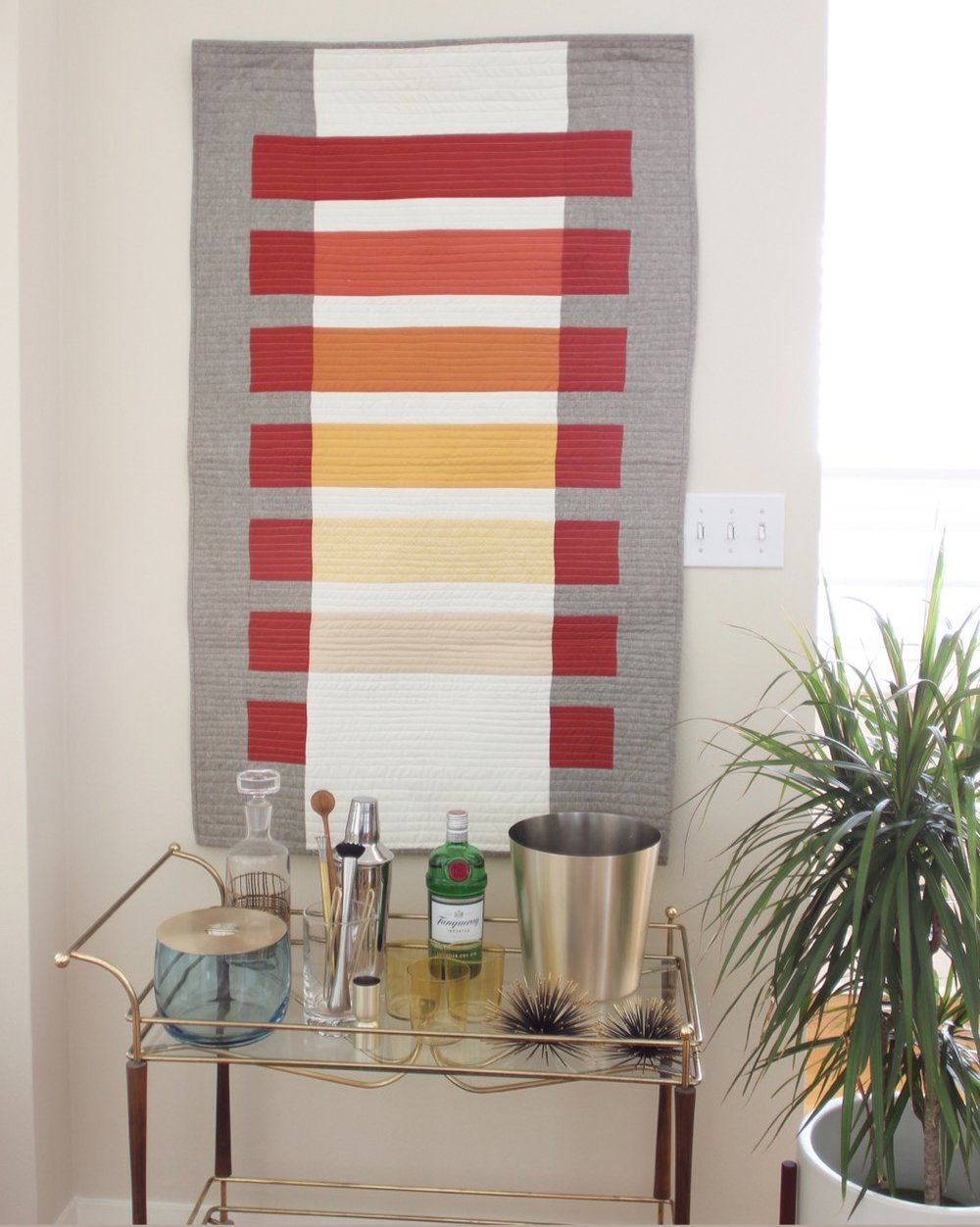 Josef Albers inspired Modern Transparency Quilt by Callie Works-Leary.