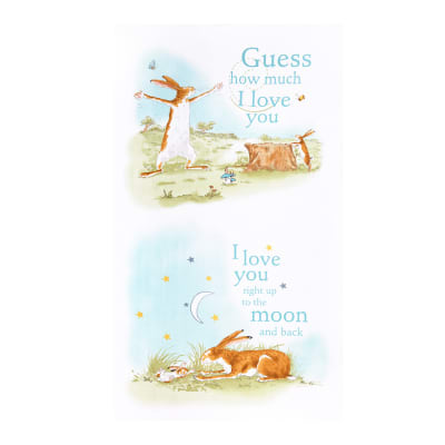 "Manufacturer: Clothworks Designer: Anita Jeram Collection: Guess How Much I Love You Fabric: 24"" Panel Type: Quilting Cotton Dimensions: 24"" x 44"""