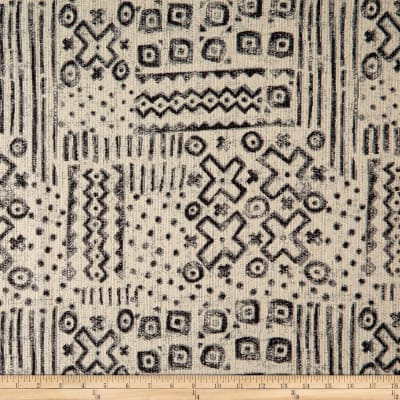 "Manufacturer: Robert Allen @ Home Fabric: Nomadic Jacquard Soft Black Type: Home Decor Width: 55"""
