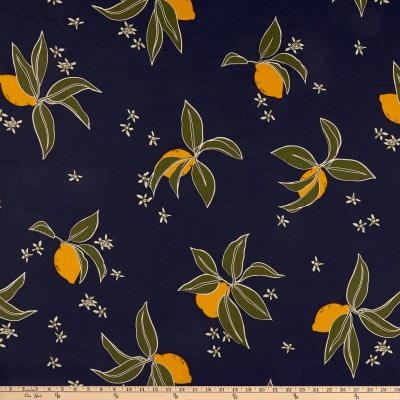 "Fabric: Cotton/Linen Abstract Floral Type: Cotton/Linen Blend Width: 57"""