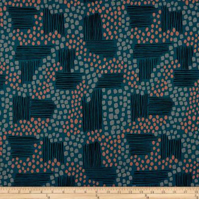 "Manufacturer: Cotton + Steel Designer: Jen Hewitt Fabric: Imagined Landscapes Aerial View Width: 44"" Type: Linen/Cotton Canvas"