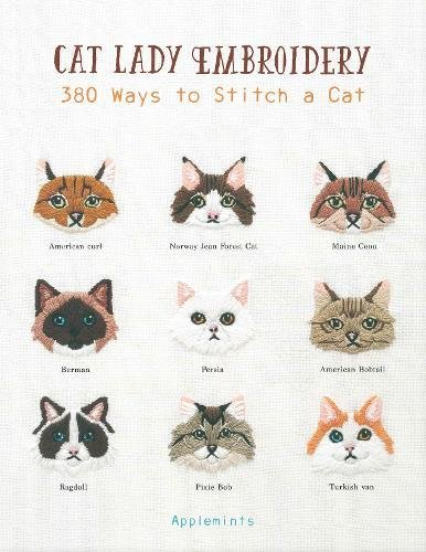 Cat Lady Embroidery Book by Applemints
