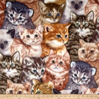 Winter Kittens Fleece Fabric