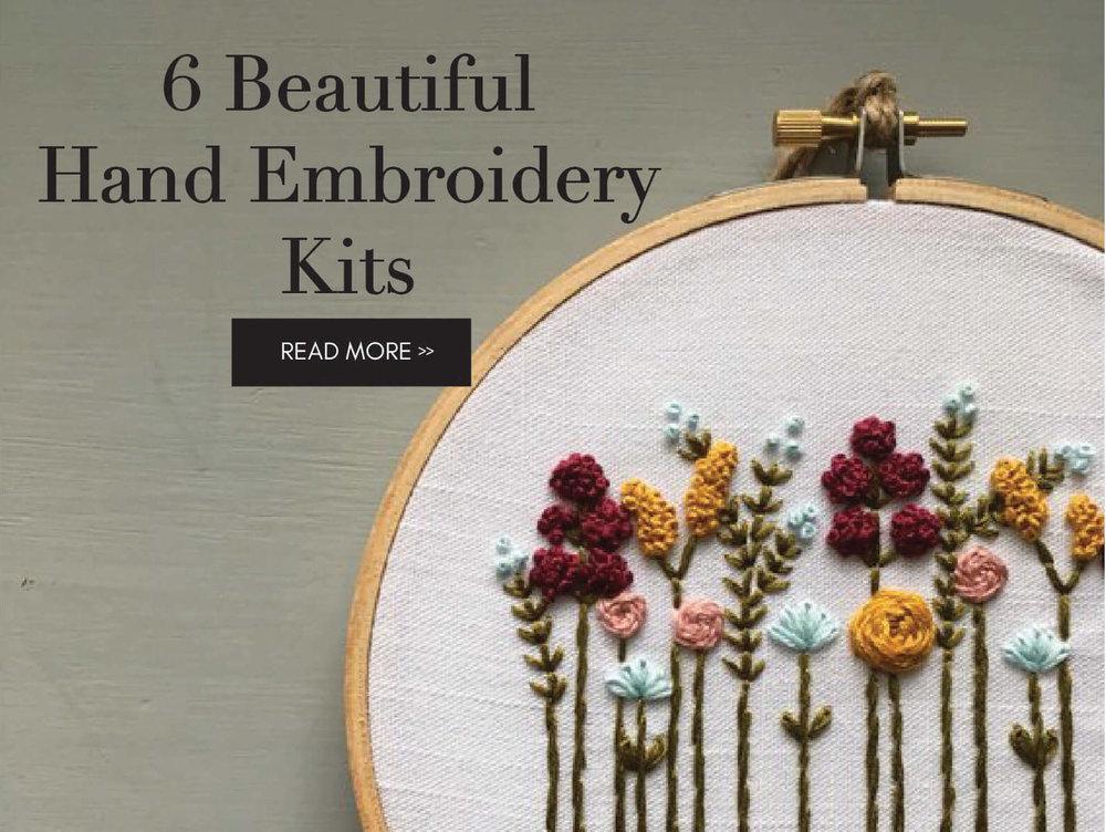 6 Beautiful Hand Embroidery Kits