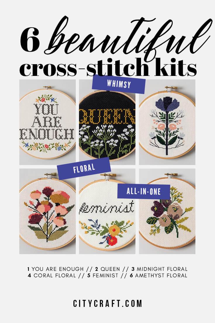 6 Beautiful Cross Stitch kits #crossstitch #crossstitchkits