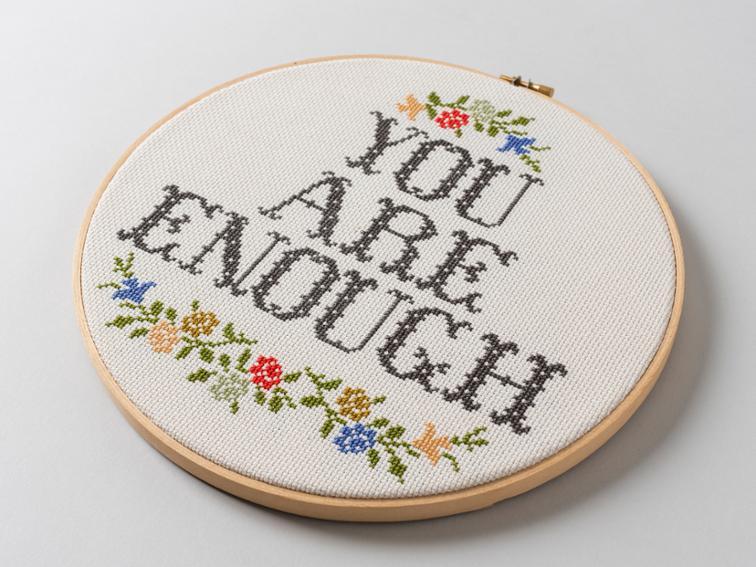 You Are Enough Cross Stitch Kit #crossstitch #crossstitchpattern #crossstitchkit