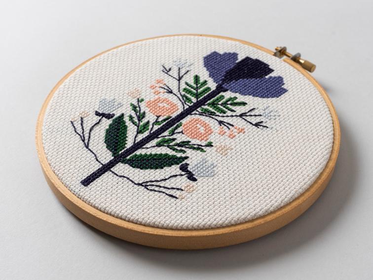 Midnight Floral Cross Stitch kit #crossstitch #crossstitchpattern