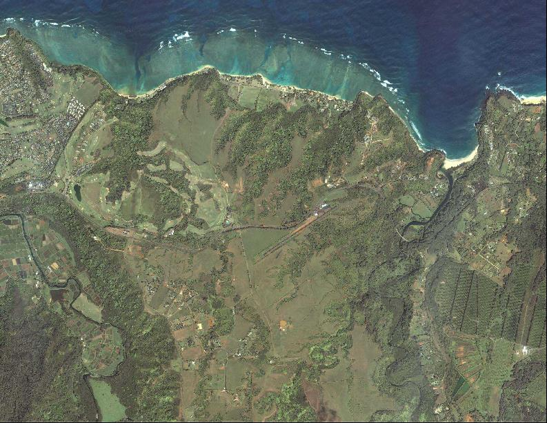 Aerial View of North Shore of Kaua'i