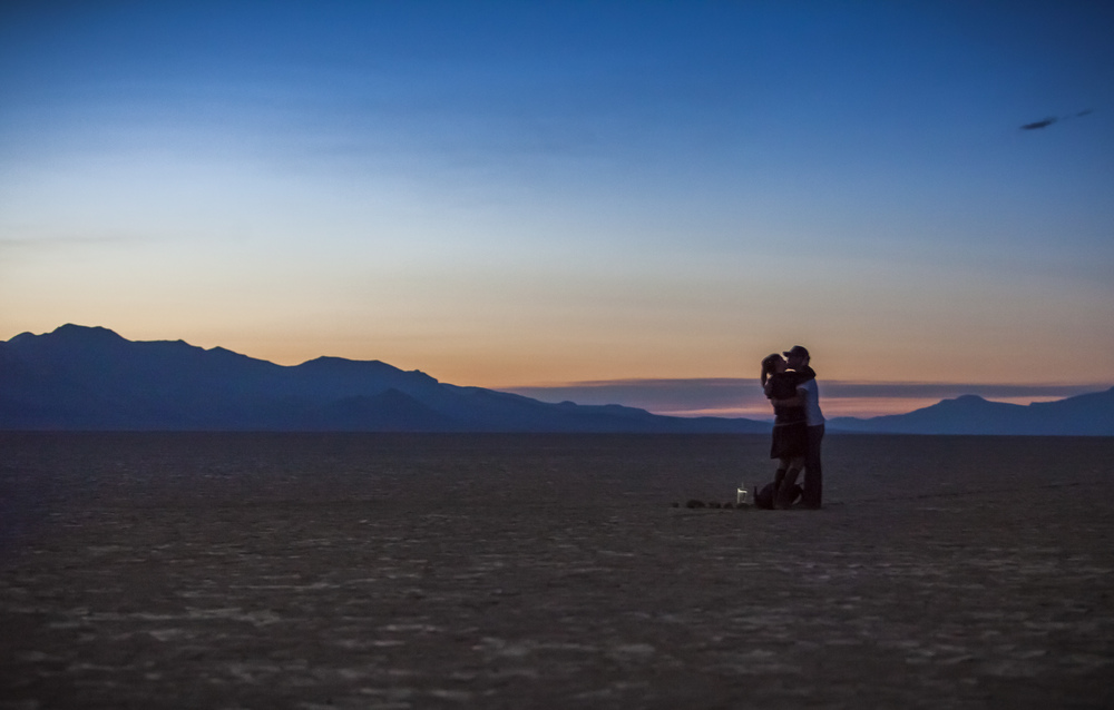 Proposal in the desert