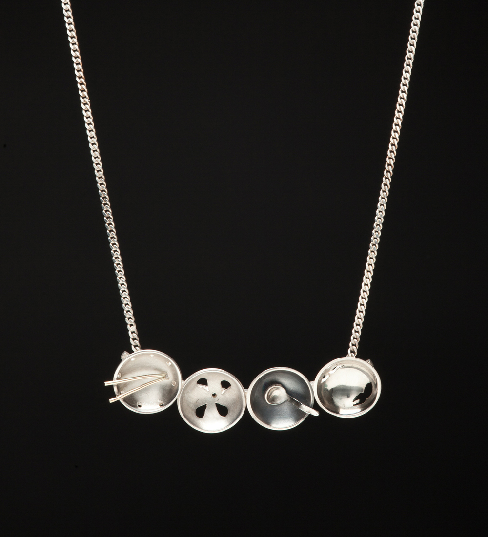 Four Miniature Bowls Necklace