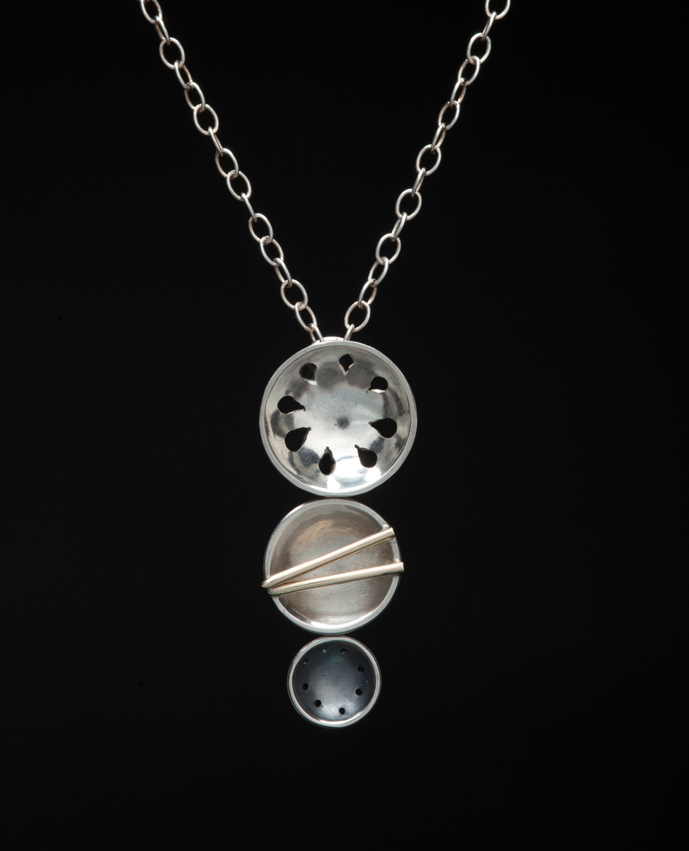 Three Miniature Bowls Necklace