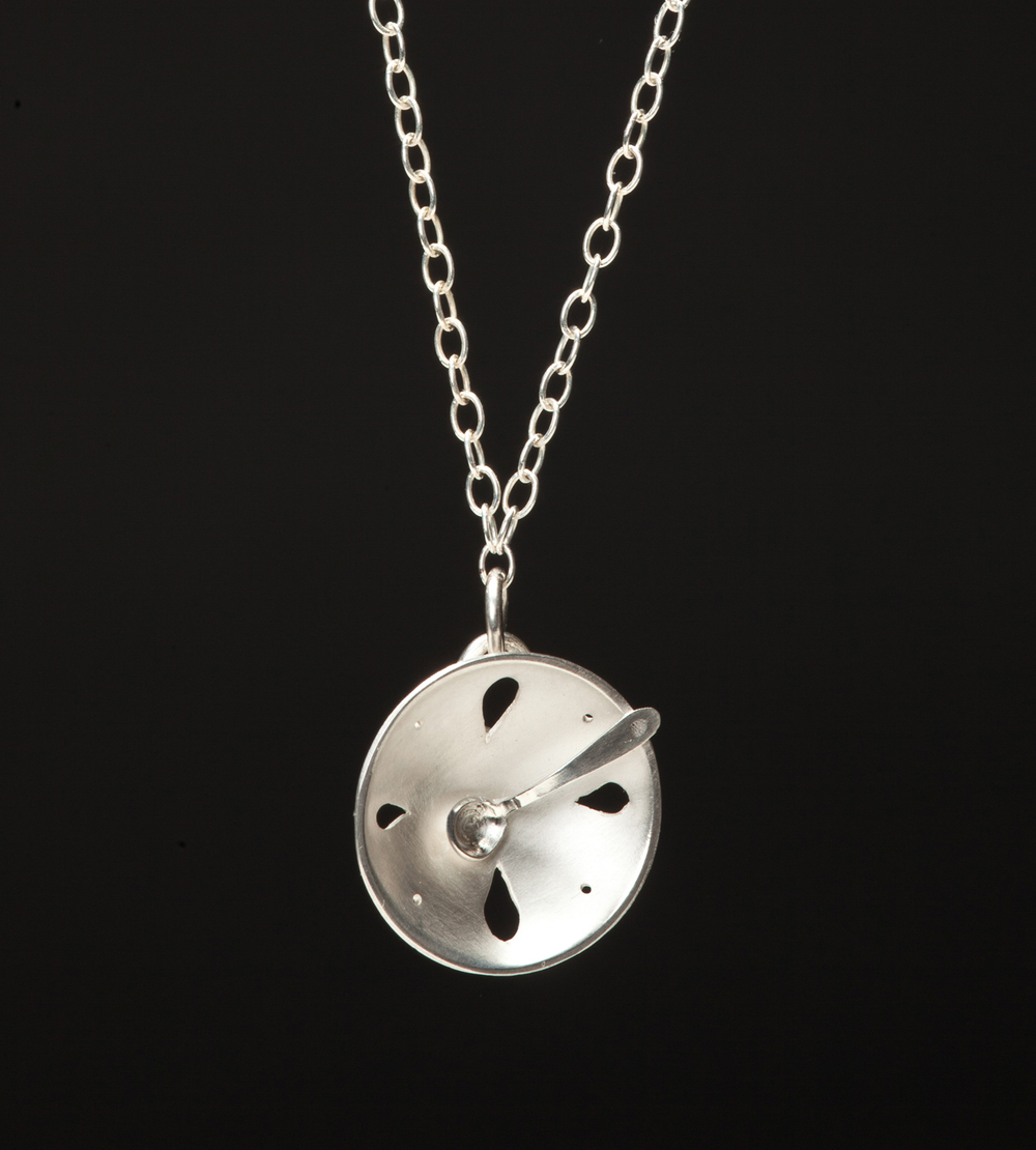 Silver Petal Bowl Necklace