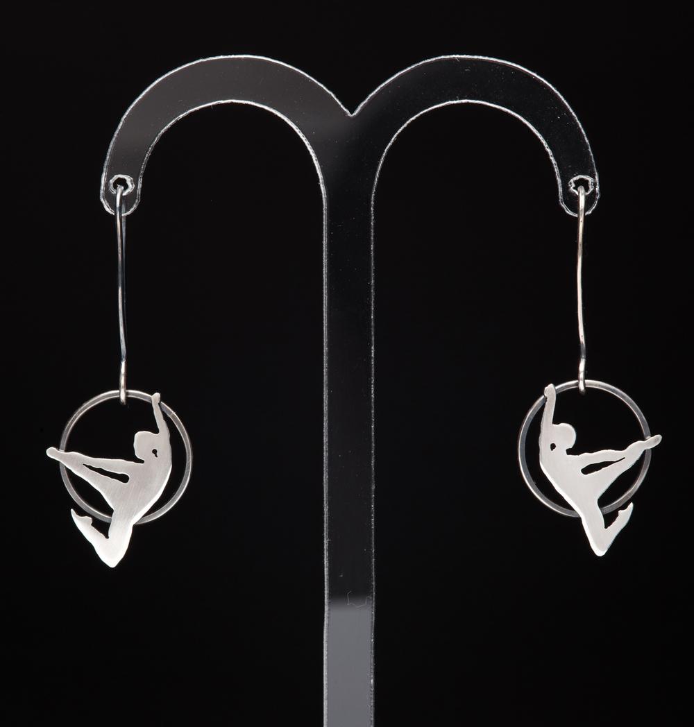 Leaping Acrobat Earrings