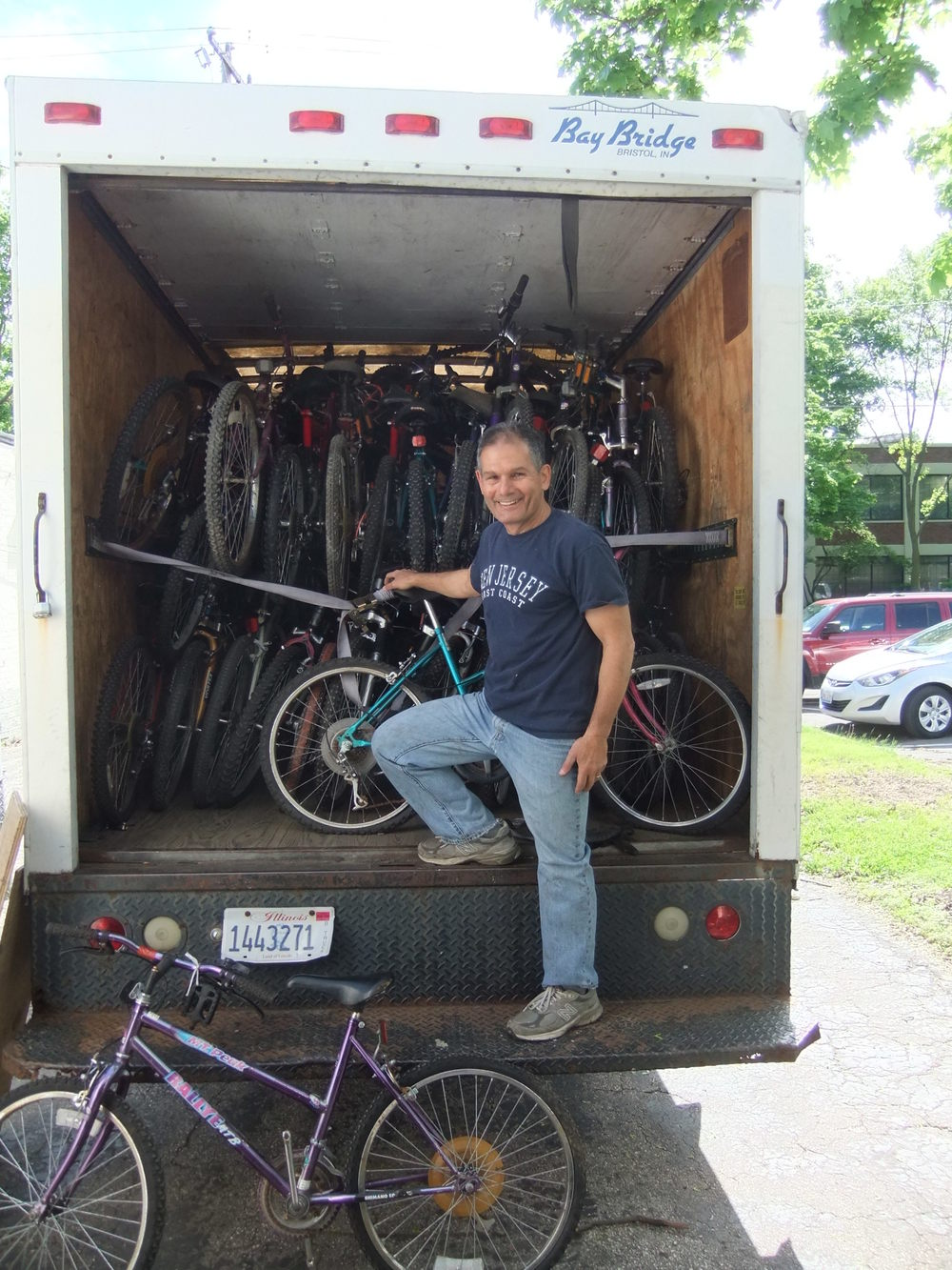 At times Wheels for Winners has a surplus of bikes in our little shop. Luckily, we recently had the opportunity to partner with Working Bikes, a non-profit in Chicago that provides bikes to global organizations in need of bikes. This load was on its way to Botswana as part of a larger shipment of 400 bikes.