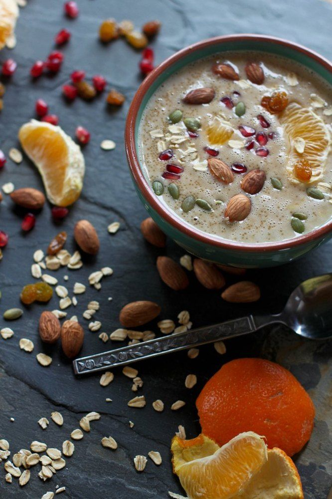 Orange and amaranth porridge