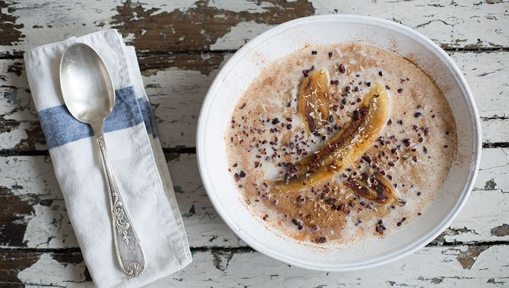 Sprouted Amaranth Porridge With Grilled Banana