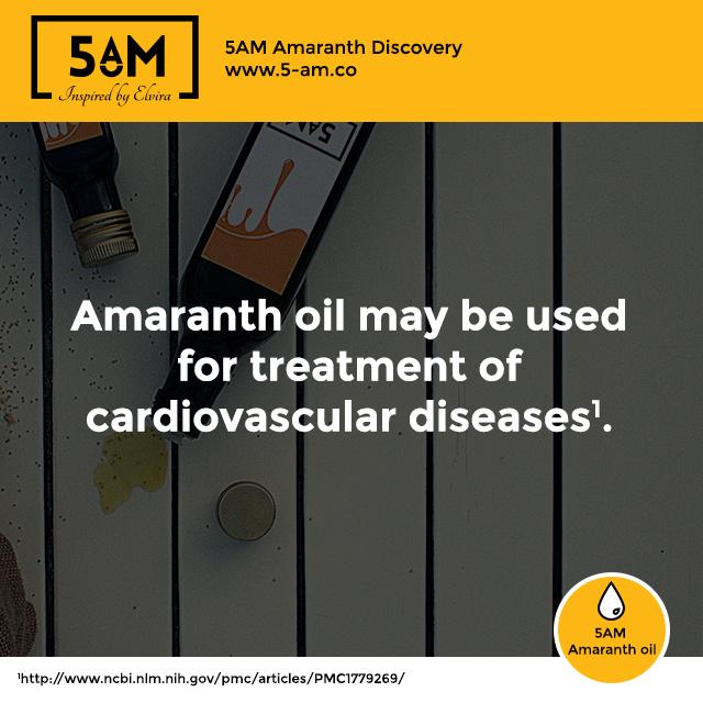 Amaranth oil cardiovascular diseases