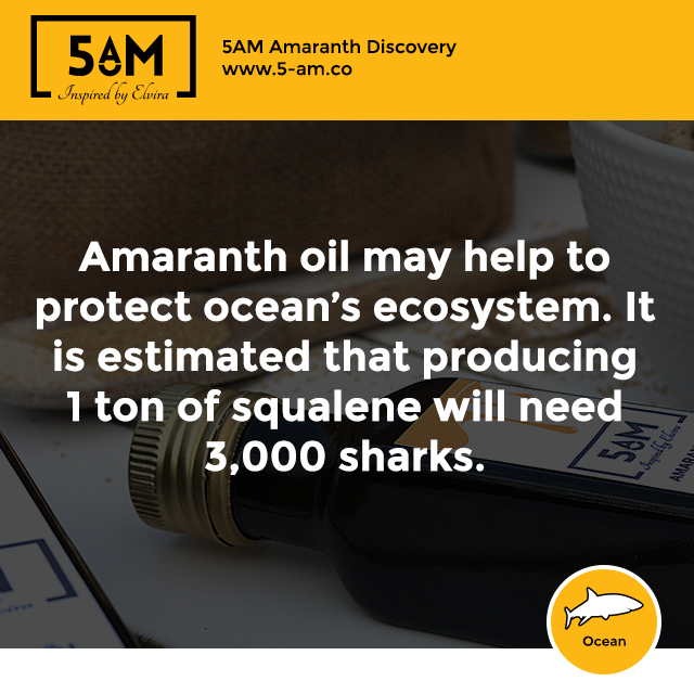 Amaranth oil protects ocean's ecosystem