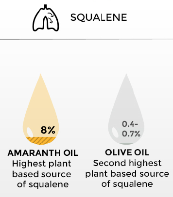 Squalene - Amaranth oil vs. Olive oil