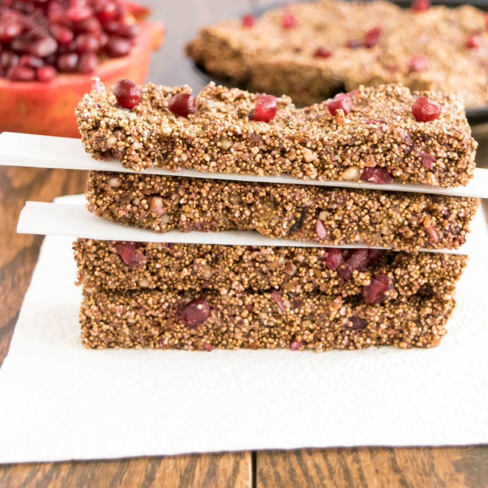 Puffed Amaranth Pomegranate Bars