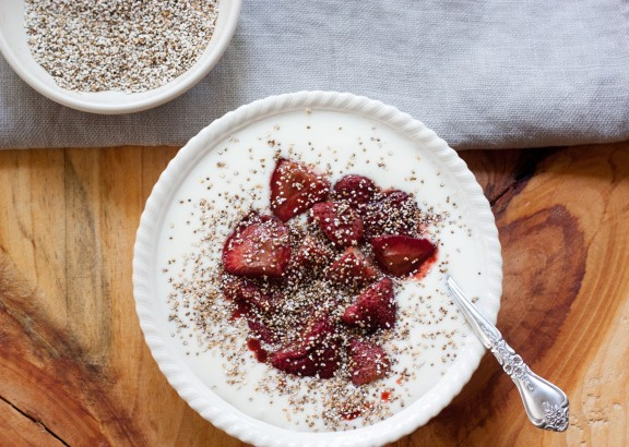 Roast Strawberries & Toast Amaranth