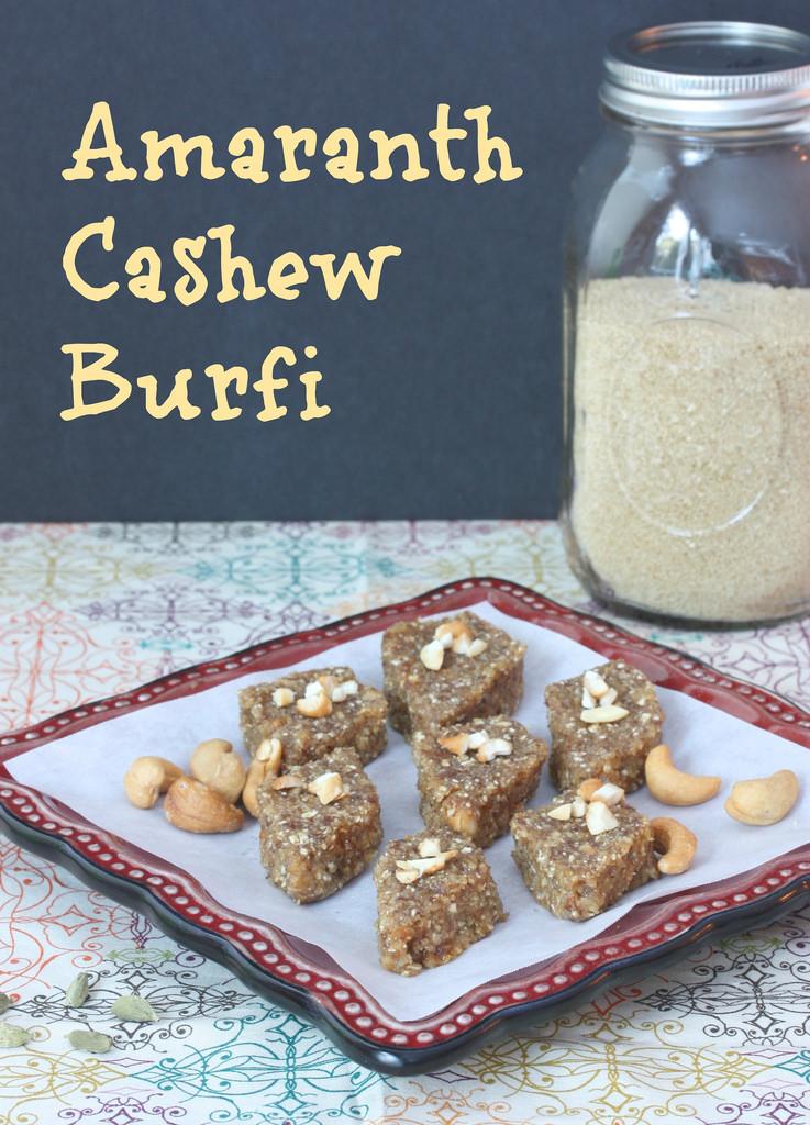 Amaranth Cashew Burfi