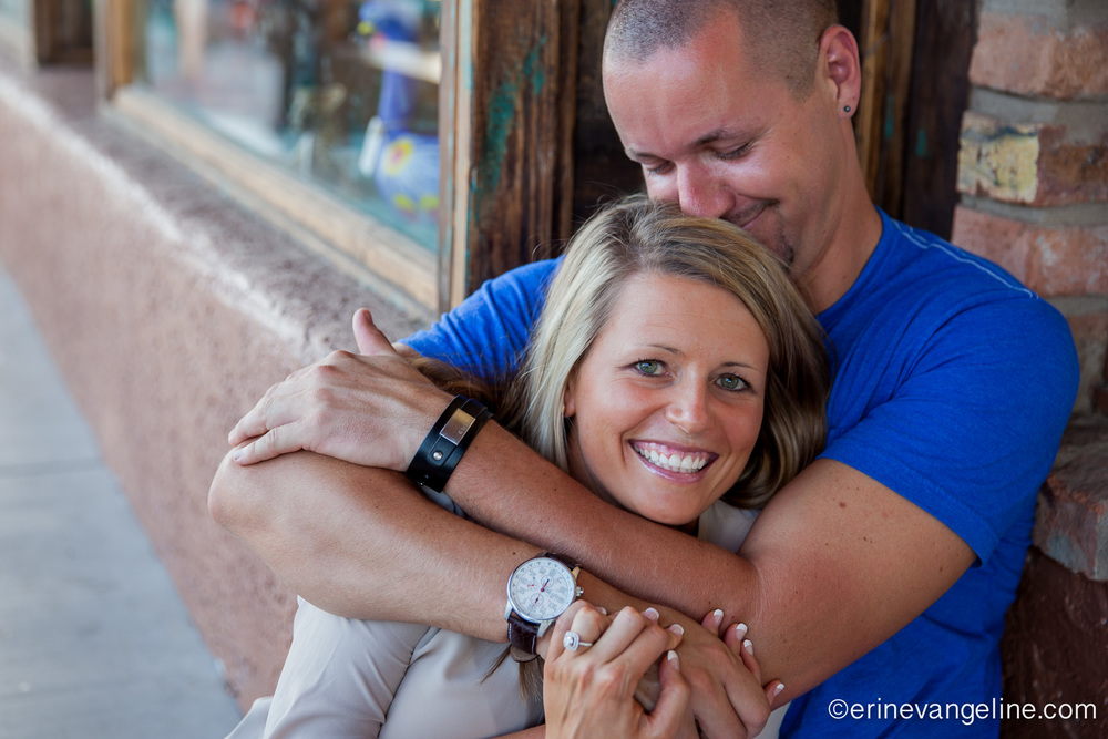 Old Town Scottsdale Engagement Shoot- Erin Evangeline Photography