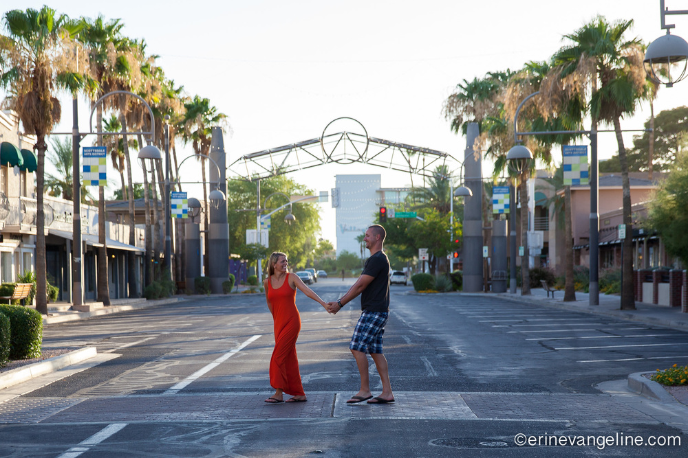 Scottsdale Old Town Photography Engagement Session Erin Evangeline Photography
