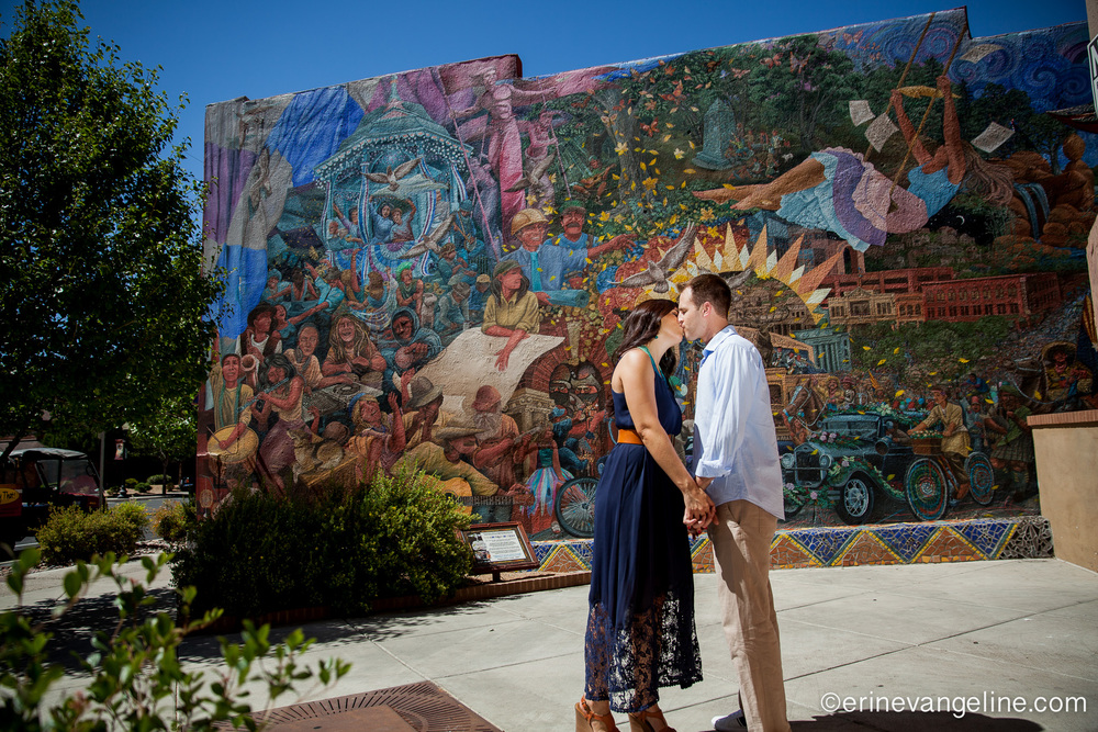 Prescott Murals Couple Photography Erin Evangeline Photography