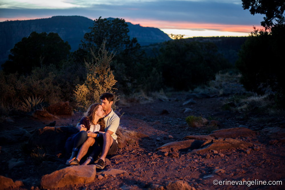 Schnebly Vista Sedona Photographer Erin Evangeline Photography Engagement Shoot