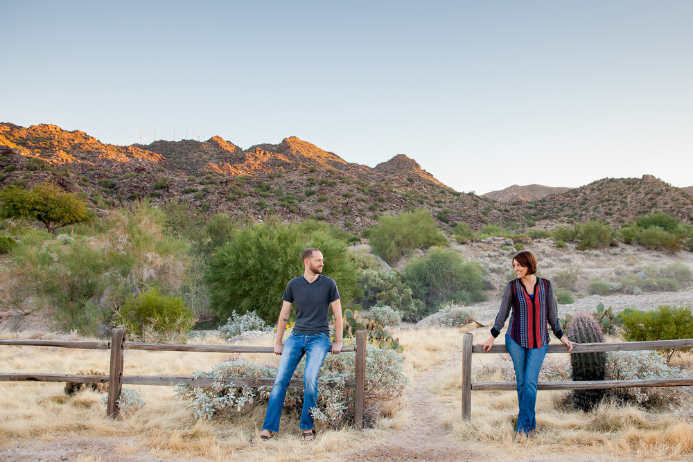 Phoenix Arizona Scorpion gulch South Mountain Engagement Photo