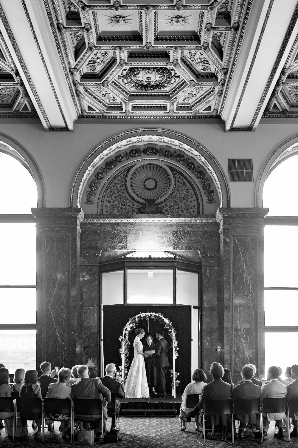Chicago Cultural Center Civil Wedding Erin Evangeline Photography