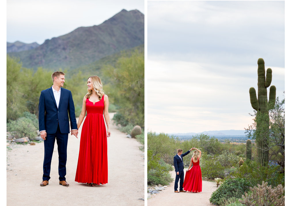 Arizona Desert Engagement Photos Erin Evangeline Photography