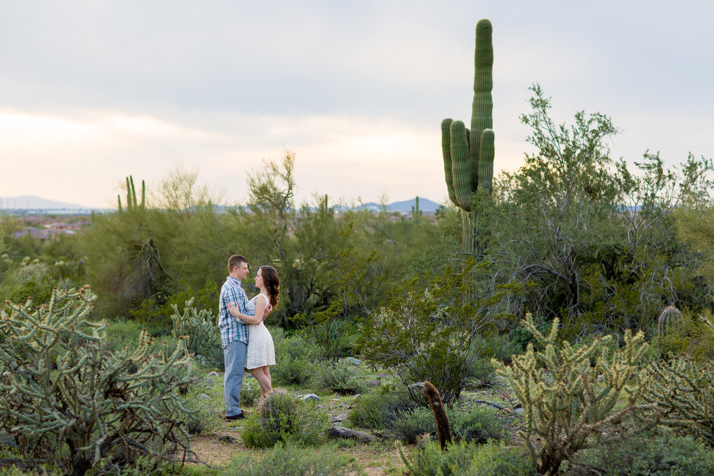 Arizona Desert Engagement Photos