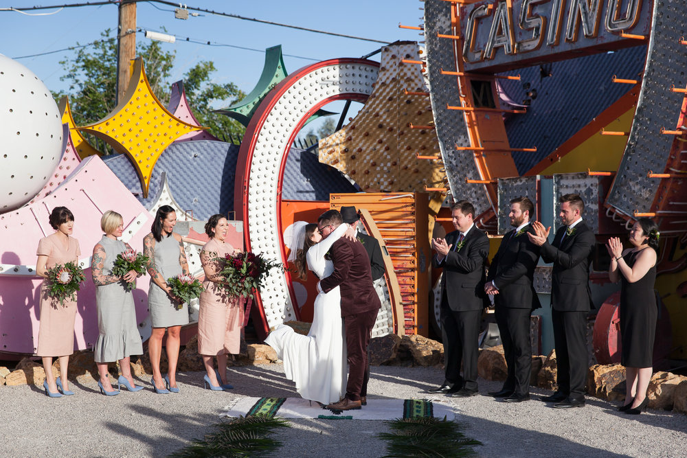 Las Vegas Neon Museum Boneyard Downtown Grand Wedding Photography