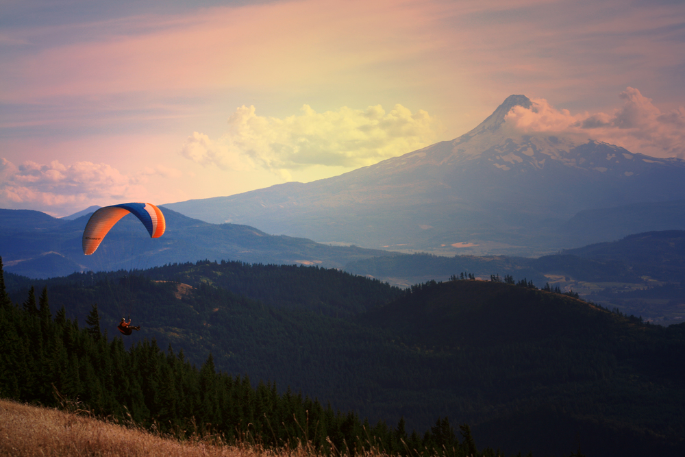 Paragliding Mt. Hood, Oregon