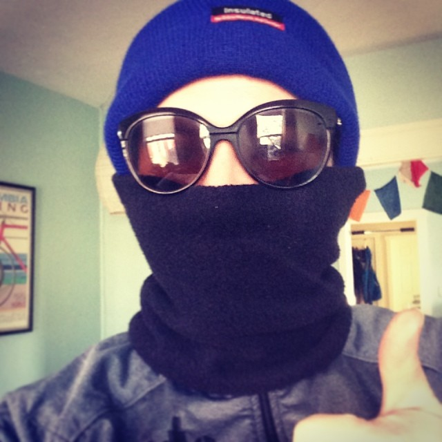 So cold but that marathon calls. Must run!